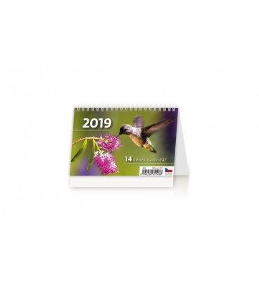 Table calendar MINI 14denní kalendář 2019