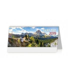 Stolní kalendář Svět hor 2019
