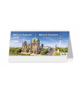 Tischkalender Města Evropy/Mesá Európy 2019