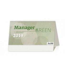Tischkalender Manager Green 2019