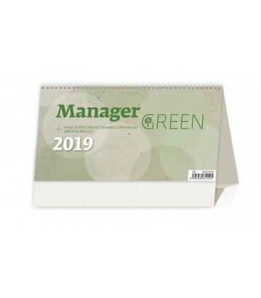 Stolní kalendář Manager Green 2019