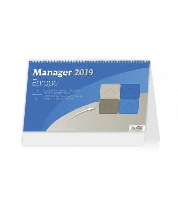Stolní kalendář Manager Europe 2019