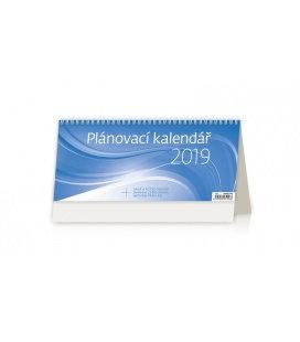 Stolní kalendář Plánovací kalendář MODRÝ 2019