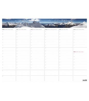 Table calendar Týdenní plánovací mapa A2 (bez plastové lišty) 2019
