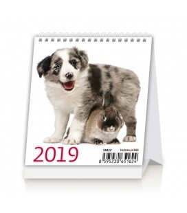 Table calendar Mini Pets 2019