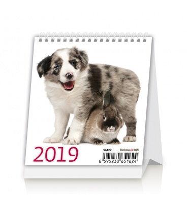 Stolní kalendář Mini Pets 2019