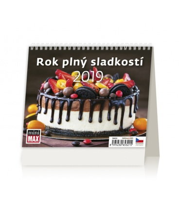 Stolní kalendář Minimax Rok plný sladkosti 2019