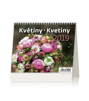 Table calendar Minimax Květiny/Kvetiny 2019