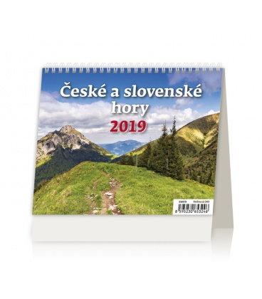 Stolní kalendář Minimax České a slovenské hory 2019