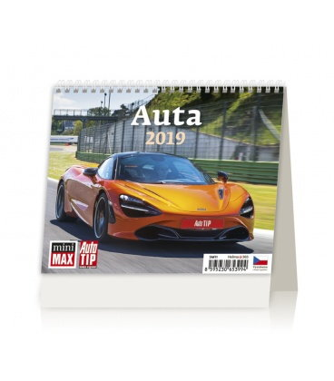 Table calendar Minimax Auta 2019