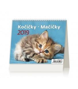 Stolní kalendář MiniMax Kočičky/Mačičky 2019