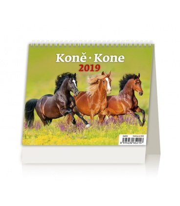 Table calendar MiniMax Koně/Kone 2019