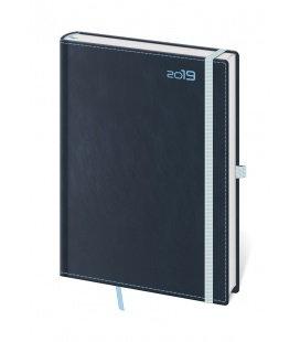 Daily diary A5 Double Blue s poutkem na propisku 2019