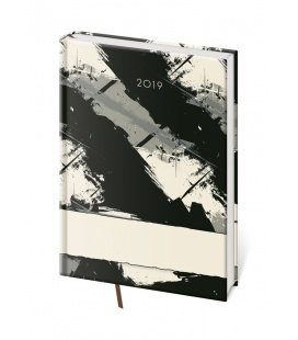Daily diary A5 Vario - Grey 2019