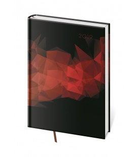 Daily diary A5 Vario - Black 2019