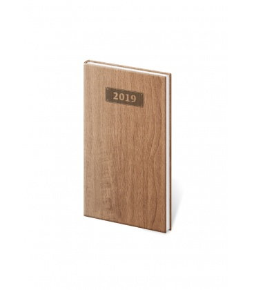 Weekly Pocket Diary Wood 2019