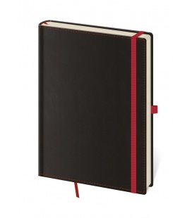 Notepad - Zápisník Black Red - unlined L 2019