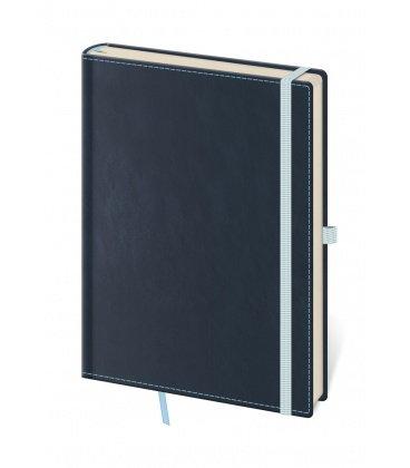 Notepad - Zápisník Double Blue - unlined L 2019