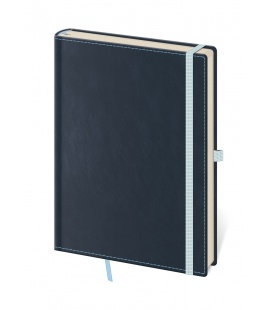Notepad - Zápisník Double Blue - lined S 2019