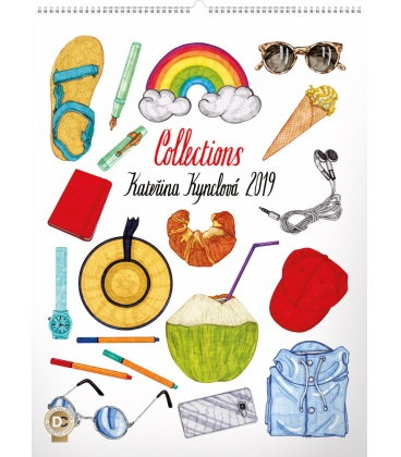 Wall calendar Collections, Kateřina Kynclová 2019