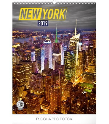 Wall calendar New York 2019