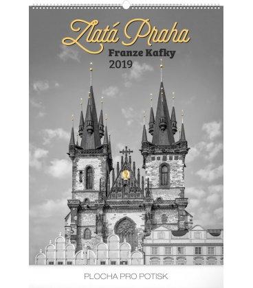 Wall calendar Zlatá Praha Franze Kafky 2019