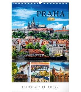 Wall calendar Prague 2019