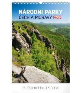 Nástěnný kalendář Národní parky Čech a Moravy 2019