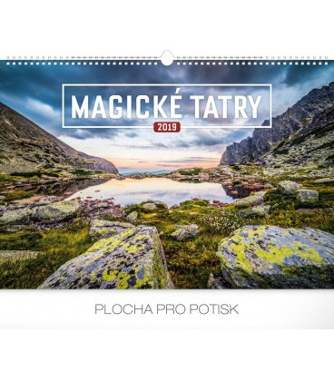 Wall calendar Magical Tatras 2019