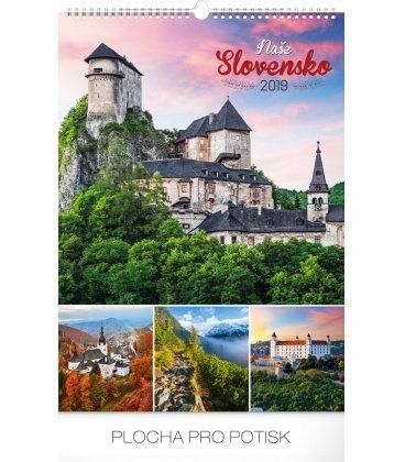 Wall calendar Slovakia 2019
