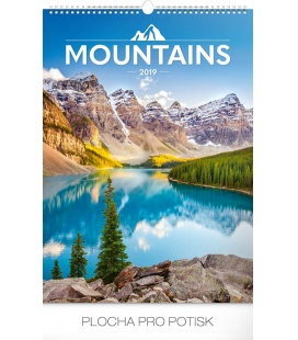 Wall calendar Mountains 2019