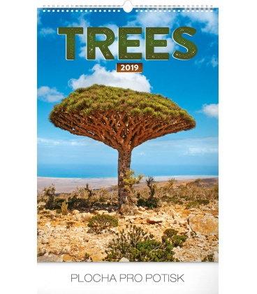 Wall calendar Trees 2019