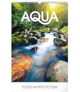 Wall calendar Aqua 2019