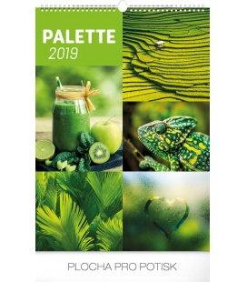 Nástěnný kalendář Paleta 2019