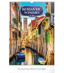Wall calendar Romantic Sceneries 2019