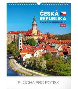 Wall calendar Czech Republic 2019