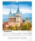 Wall calendar Pamätihodnosti Slovenska SK 2019