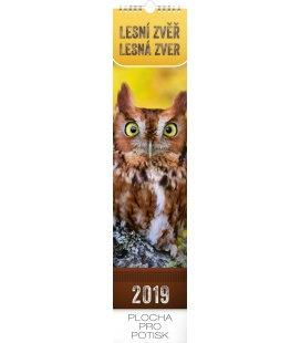 Nástěnný kalendář Lesní zvěř – Lesná zver - vázanka 2019