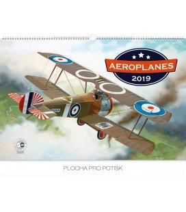 Nástěnný kalendář Aeroplanes – Jaroslav Velc 2019