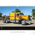 Nástěnný kalendář Trucks 2019
