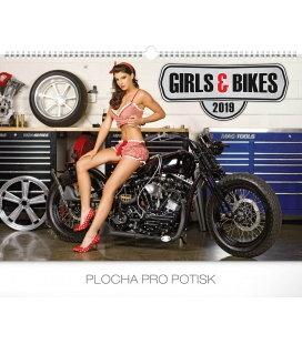 Nástěnný kalendář Girls & Bikes – Jim Gianatsis 2019
