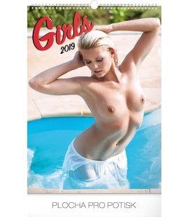 Nástěnný kalendář Girls 2019