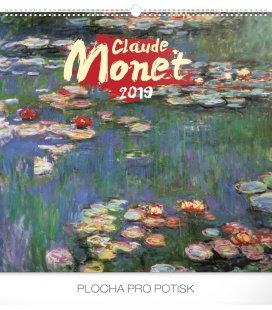 Nástěnný kalendář Claude Monet 2019