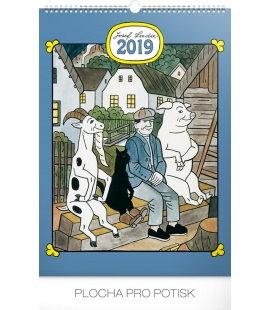 Nástěnný kalendář Josef Lada – Pohádky 2019