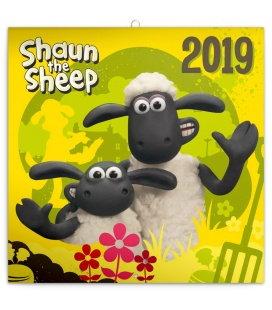 Wall calendar Shaun the Sheep 2019