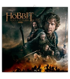 Nástěnný kalendář Hobbit 2019