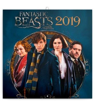 Nástěnný kalendář Fantastická zvířata 2019