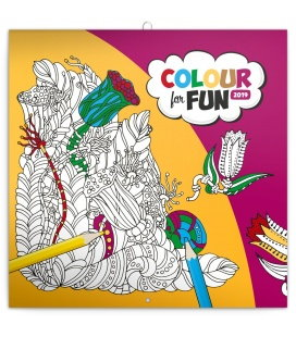 Wall calendar Colour for fun 2019