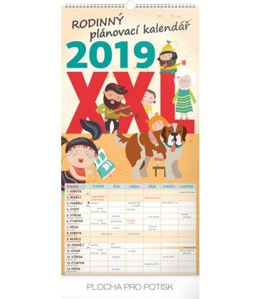 Wall calendar Family planner XXL 2019