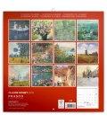 Wall calendar Claude Monet 2019